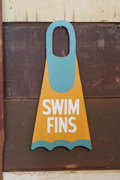 Jeff Canham for Mollusk - swim fins Dive Shop, Surf Shop, Lettering Design, Hand Lettering, Skate Fish, Beach Supplies, Swim Fins, Sign Writing, Surf Art