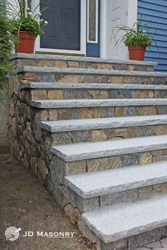 concrete front steps with stone veneer pinteres
