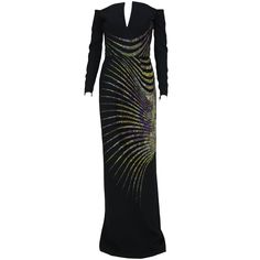 New ETRO BLACK BEADED GOWN | From a collection of rare vintage evening dresses at https://www.1stdibs.com/fashion/clothing/evening-dresses/