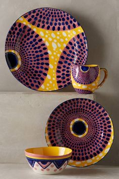 Habari Dinnerware.not a fan of anthropologie or their prices, but I love these plates.