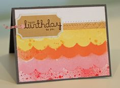 just cut out and layer different pieces of paper together for birthday card.  Do from light to dark in one color palate.