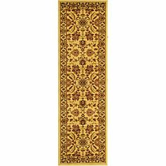 Lyndhurst Collection Heritage Ivory/ Ivory Runner (2'3 x 14')