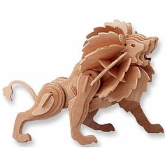 3-D Wooden Puzzle - Lion -Affordable Gift for your Little One! Item #DCHI-WPZ-M028