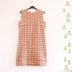 Vintage Shift Dress // Wool check // pink and by superqueenieretro, $65.00
