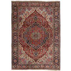 Antique Persian Serapi Area Rug, 9'06 x 13'04