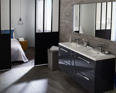 Salle de bain on pinterest slanted walls html and du bois - Ensemble salle de bain castorama ...