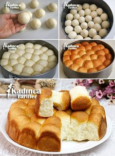 Roll Bread Recipe, How To, Cookie Recipes Cooking Bread, Bread Baking, Bread Recipes, Cookie Recipes, Tea Party Sandwiches, Greek Cooking, Food Garnishes, Food Articles, Bread And Pastries
