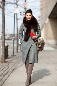 street style cold days giovanna battaglia
