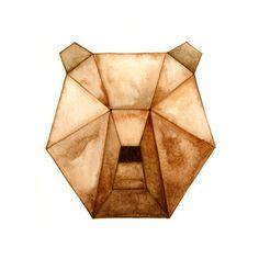 Geometric Animals Bear Print by CatherineLazarOdell on Etsy