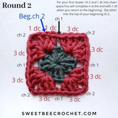 How to crochet a granny square. This tutorial includes written and photo walk-throughs as a guide. Simple instructions so you can make your own square. Owl Knitting Pattern, Crochet Quilt Pattern, Granny Square Crochet Pattern, Crochet Squares, Crochet Patterns, Crochet Granny Square Beginner, Granny Square Tutorial, Crochet Basics, Easy Granny Square
