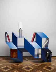 This unusual shelf was designed by Charles Kalpakian, a Lebanese designer based in France. After working for prestigious designers like Ora Ito, he started
