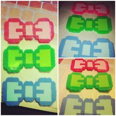 Bows made with perler beads. Buy 1, get 2nd for HALF OFF!!