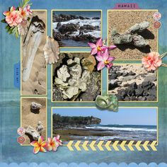 Digital scrapbook layout using Colorful revelation templates by Grace Blossoms 4 u. I love how many photos you can fit on a page!