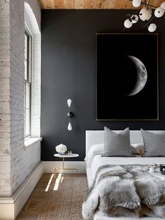 Large Moon Print Full Moon Print Moon Phases Poster by printabold
