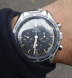 Vintage OMEGA Speedmaster Pro Moonwatch Calibre 321 Circa 1960s - https://omegaforums.net Omega Speedy SpeedyPro Speedmaster Speedmasterpro Menswear Mensfashion Wristshot Womw Wruw Horology Classic Timeless Watches Watchporn Fashion Style Preppy Montres Uhren Orologio Chrono Chronograph Vintage Cal321 Calibre321 Moon Moonwatch NASA Space