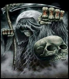 The Grim Reaper : Love & Hate - Maxi Poster x (new & sealed) Grim Reaper Art, Grim Reaper Tattoo, Don't Fear The Reaper, Rauch Tapete, Model Tattoo, Totenkopf Tattoos, Skull Pictures, Geniale Tattoos, Skull Artwork