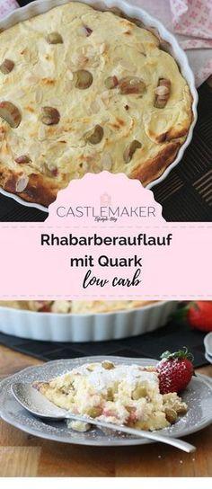 Hier kombiniere ich den gesunden Rhabarber mit Erdbeeren und Quark in einer gesunden low carb Variante, aber wer mag, kann ihn auch in der Normalvariante mit viel Zucker genießen. Das Rezept gibt es auf meinem Blog. #rhabarberauflauf #lowcarb #rhabarber #rezept