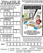 Jumble puzzle will feature well known cartoonists as 'Guest Jumblers' Jumble Word Puzzle, Word Search Games, Word Games, Spy Games, Free Printable Crossword Puzzles, Free Printables, Jumbled Words Game, Daily Jumble