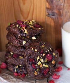 Čokoládovo mandlovo malinové sušenky bez mouky | Veganotic