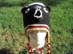 Honey Badger Hat. Hand Crocheted Honey Badger Hat For by AJsHooks