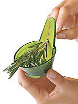 Chef'n Zipstrip Herb Stripper - Strips woody herbs and measures | Solutions
