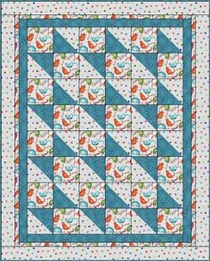 BOXES and BOWS Downloadable 3 Yd Quilt Pattern