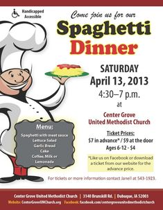 Really Like This Flyer  Spaghetti Dinner Fundraiser Ideas