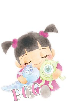 Kawaii Disney, Cute Disney, Disney Girls, Baby Disney, Disney Art, Disney Pixar, Monsters Inc Boo, Disney Monsters, Walpapers Iphone