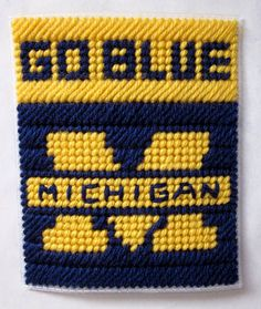 University of Michigan tissue box cover plastic by AuntCCcreations