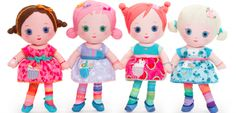 """""""One of the cutest dolls out there have to be the new #Mooshka line of dolls (also makers of the beloved #Lalaloopsy dolls)... Aren't they adorable?!  They have this kind of vintage vibe that is so sweet! All of the dolls are soft and huggable and each of the dolls can join hands to express their friendship for one another."""" Review from @Piera -- Jolly Mom"""