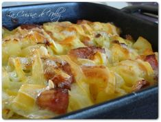 Gratin de Chou, saucisse de Morteau, Pommes de terre et Reblochon