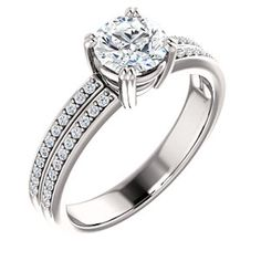 LILLIAN style 122376 Accented Twin Prong Engagement Ring #everandeverbridal