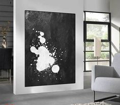Huge Large Canvas prints add a unique touch to your home. Modern, stylish and unique design will be the most special piece of your decor. Especially for those who like abstract works, black and white acrylic painting can be prepared in desired sizes  large original Painting on canvas, abstract acrylic painting, Abstract Canvas art for large wall decor Black and White  16x24 (40x60cm) $75 20x30 (50x76cm) $110 30x40 (76x102cm) $180 36x48(92x122cm) $240 40x53.5(102x136cm) $310 45x60(115x153cm)…