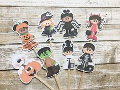 Halloween Cupcake Toppers by DianasDen on Etsy