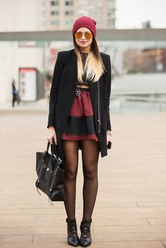 Blogger Danielle Bernstein working her street style at last year's #NYFW!   Photo via Refinery 29.com