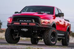 Everything custom trucks and aftermarket truck accessories to add a unique style to your pickup. Jacked Up Trucks, Ram Trucks, Dodge Trucks, Ram Rebel, Vintage Chevy Trucks, Antique Trucks, Custom Pickup Trucks, Car Washer, Classic Trucks