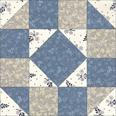 Cheyenne was first published by the Kansas City Star in It was later published as Rock Garden in the Aunt Martha Series, c. Star Quilt Patterns, Pattern Blocks, Blue Quilts, Mini Quilts, Quilting Projects, Quilting Designs, Civil War Quilts, Sampler Quilts, Quilt Tutorials