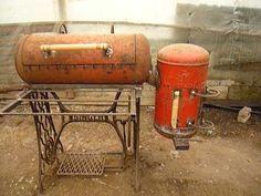 Bbq Pit Smoker, Diy Smoker, Homemade Smoker, Homemade Tools, Barbecue Grill, Backyard Bbq Pit, Backyard Garden Design, Custom Bbq Grills, Oil Drum Bbq