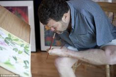 Thalidomide Artist.  The father-of-two said if you dont have the use of your hands, your feet and mouth are naturally the next best things