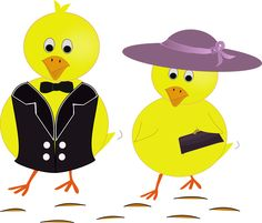 Easter Sunday Chicks drawn in Inkscape