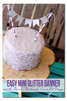 did you know that there is glitter Duck tape?!  awesome for crafting!!  Easy Mini Glitter Banner ~ Sugar Bee Crafts