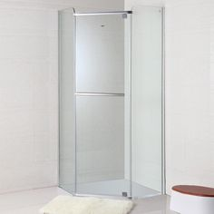 36 po x 36 po (90 cm x 90 cm) Cabine de Douche en Verre Trempé Transparent - Forme de Diamant (WD-01) Transparent, Tall Cabinet Storage, Furniture, Home Decor, Glass Shower, Shower Cabin, Diamond, Fit, Bath