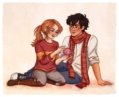 harry and ginny by susanne draws