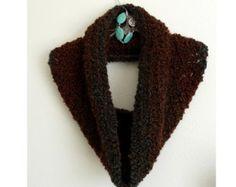 SALE - Woodland Ombre Cowl, Shoulder Hug, Shawl, Shrug, Crochet Scarf, Crochet Cowl Scarf, CR1004