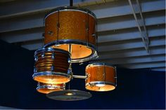Love music? Transform your old drum kit into an awesome chandelier