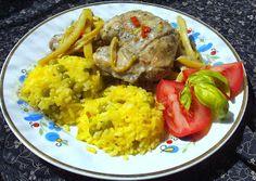 W Mojej Kuchni Lubię.. : ryż groszkowy z kurczakiem na fasolce...