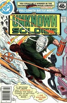 Unknown Soldier January cover by Joe Kubert Dc Comic Books, Comic Book Artists, Comic Book Covers, Comic Artist, Joe Kubert, Unknown Soldier, War Comics, Adventure Movies, Dc Comics Characters