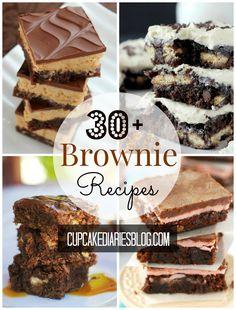 30+ of the Best Brownie Recipes | CupcakeDiariesBlog.com #brownierecipes #bestbrownies