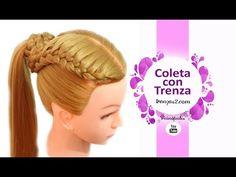 Peinados Faciles y Rapidos para pelo Chino - Coletas con Trenzas para Niñas con Ligas Buscas peinados de moda que antes no hayas hecho, estás en el lugar cor...