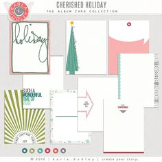 Cherished Holiday | Album Cards by Karla Dudley - great for Project Life, December Daily or Journal Your Christmas